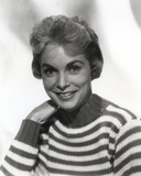 Janet Leigh with Man in Black and White Portrait