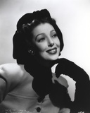 Loretta Young Young Woman posed with Black Gloves