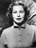 Arlene Dahl Close Up in Black and White Portrait