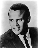 Harry Belafonte in Black Suite With Black and White