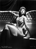 Ida Lupino on a Silk Dress sitting and Reclining