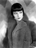 Louise Brooks Looking Away in Fur Coat Portrait