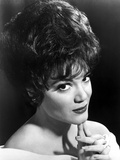 Connie Francis in White with Black Background