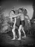 Johnny Weissmuller Tutoring in Black and White