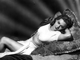Maria Montez Lying in Bed  wearing White Sexy Dress