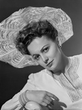 Olivia DeHavilland Portrait in Classic with Hat
