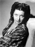 Kay Francis on Printed Top and Leaning Portrait