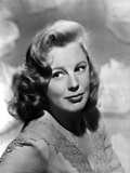 June Allyson Red lipstick  Curly Hairdo Portrait