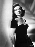 Joan Bennett Leaning on a Post in a Portrait