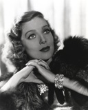 Loretta Young Hairy Jacket & Blonde Curly Hair