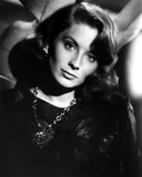 Suzy Parker in Black Blouse with Necklace