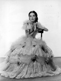 Maureen O'Sullivan on a Ball Gown sitting