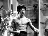 Bruce Lee in Topless with Blood on Stomach