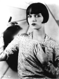 Louise Brooks Posed in Glossy Dress Portrait
