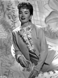 Ann Blyth wearing a Leather Coat in Portrait