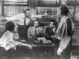 Twelve Angry Men Movie Scene in Black and White