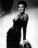 Lena Horne posed in Black Gown with Gloves