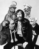 Muppets Group Picture Black and White Portrait