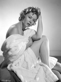 Gloria Grahame Posed in a White Bath Towel