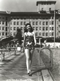Ann Miller Walking in Lingerie Classic Portrait