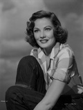Gene Tierney Posed with Cloud as Background