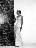 Inger Stevens wearing a Polka Dotted Dress