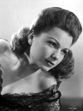 Anne Baxter on a Lace Top Leaning and posed
