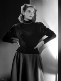 Dorothy McGuire on Long Sleeve Dress posed