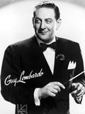 Guy Lombardo in Black With White Background