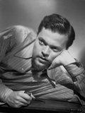 Orson Welles Leaning Head on Hand in Classic