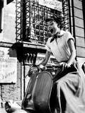 Audrey Hepburn Roman Holiday Riding Vespa