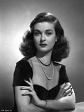 Joan Bennett Crossing Arms on Check Portrait