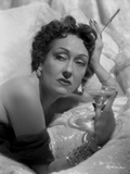 Gloria Swanson Posed Holding Glass of Wine