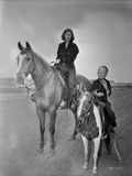 Barbara Stanwyck Riding in Horse Portrait