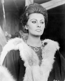 Sophia Loren wearing a Fur Scarf in a Portrait