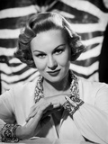 Virginia Mayo Posed with Hands Clenched Together