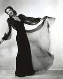 Loretta Young Lady Long Screen Black Dress