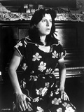 Anna Magnani wearing a Floral House Dress