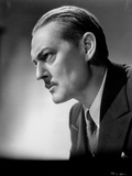 Lionel Barrymore Posed Side View in Black Suit