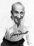 Jimmy Durante in White With White Background