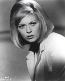 Faye Dunaway Posed in Shirt in Black and White