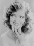 Clara Bow Posed in White with Hand on Chin