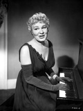 Shirley Booth on a Dress and Playing a Piano