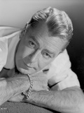 Alan Ladd Lying on the Bed in Close Up Portrait