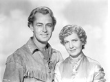 Alan Ladd posed with a Woman in Couple Portrait
