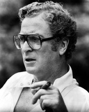Michael Caine in White Suit With Eyeglasses