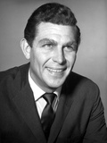 Andy Griffith Posed in Polo With Black Portrait