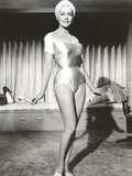 Julie Newmar wearing Lingerie Black and White