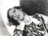 Loretta Young Black and White Pose Side Way