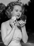 Virginia Mayo Powdering Face with Powder Pad